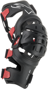 Orteza Alpinestar Bionic-10 Carbon Black Red Left