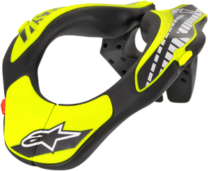 Protecție Gât Copii Alpinestar Black Yellow Fluo
