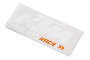 Logo sticker KTM white orange
