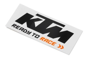 Sticker KTM Logo Black White