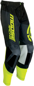 PANTALONI MOOSE M1 Black/Fluorescent Yellow