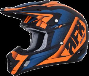Casca AFX FX-17 Matte Black/Orange/Blue Force