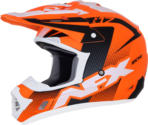 Casca AFX FX-17 Matte Neon Orange/Black/White Holeshot