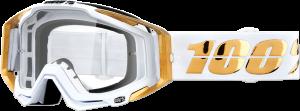 Ochelari 100% RACECRAFT LTD Gold/White Lentila Clara
