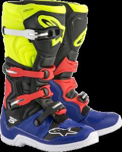 Cizme Alpinestars Tech 5 Blue/Black/Yellow Fluo/Red