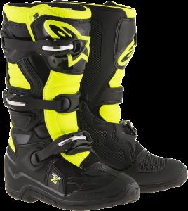 Cizme Copii Alpinestar Tech 7S Black Yellow Fluo