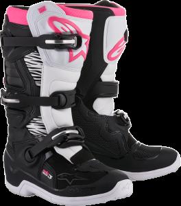Cizme Fete Alpinestar Stella Tech 3 Black White Pink