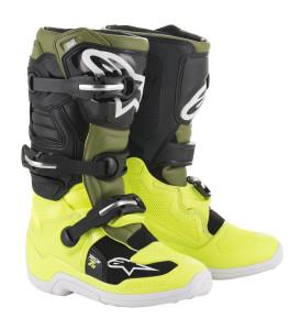 Cizme Copii Alpinestar Tech 7S Yellow Fluo Military Green Black