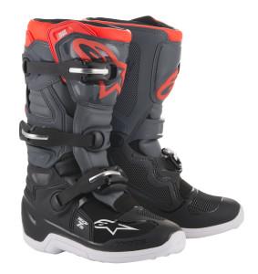 Cizme Copii Alpinestar Tech 7S Black Dark Gray Red Fluo