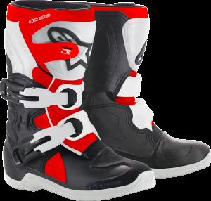 Cizme Copii Alpinestar Tech 3S Black White Red Fluo
