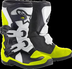 Cizme Copii Alpinestar Tech 3S Black White Yellow Fluo