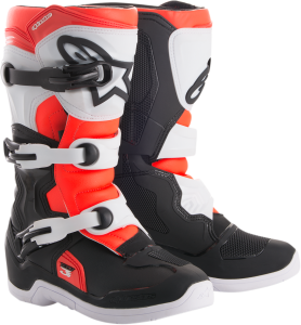 Cizme Copii Alpinestar Tech 3S Black White Red Fluo