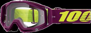 Ochelari 100% Racecraft KLEPTO  Purple/Fluo Yellow Lentila Clara