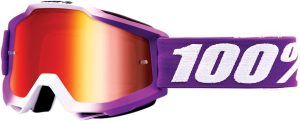 Ochelari 100% Accuri FRAMBOISE Magenta/White Lentila Miror