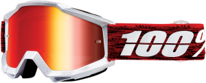 Ochelari 100% Accuri GRAHAM Red/Silver Lentila Mirror