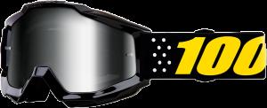Ochelari 100% Accuri PISTOL Black/Yellow Lentila Mirror