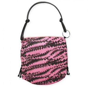 Poseta G-V-PURSE TONGUE TIED Black/Pink
