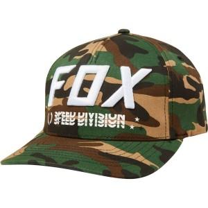 Sapca FOX TRIPLE THREAT FLEXFIT HAT Green Camo