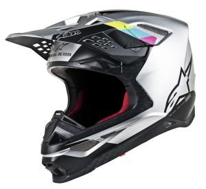 Casca Alpinestars SM8 CONTACT Black/Fluorescent Yellow/Pink/Silver/Teal