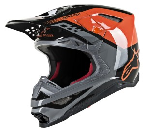 Casca Alpinestars SM8 TRIPLE Orange/Gray/Black