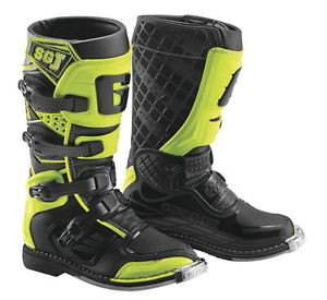 Cizme GAERNE SG - JUNIOR BLACK YELLOW FLUO