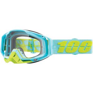 Ochelari 100% Racecraft Fluorescent Yellow/Teal - lentila clara