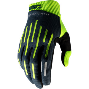 Manusi 100% Ridefit Charcoal/Fluorescent Yellow