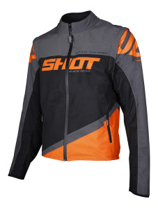 Geaca Shot 2020 Softshell Lite Grey Neon Orange