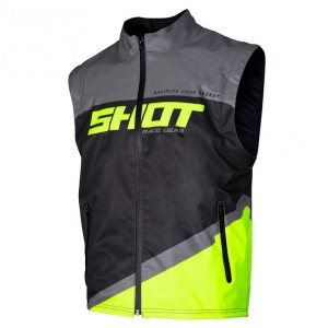 Vesta Shot 2020 Bodywarmer Lite Grey Neon Yellow