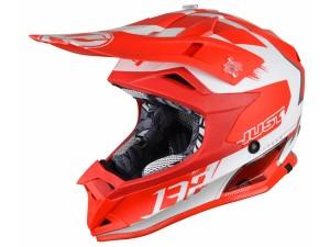 Casca JUST1 J32 Pro Kick White/Red Matte