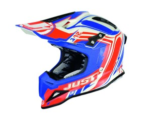 Casca JUST1 J12 Flame Red/Blue
