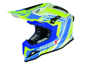 Casca JUST1 J12 Flame Yellow/Blue