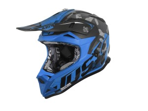 Casca JUST1 J32 Pro Swat Camo Fluo Blue Gloss