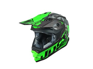 Casca JUST1 J32 Pro Swat Camo Fluo Green Gloss