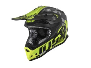 Casca JUST1 J32 Pro Swat Camo Fluo Yellow Matt