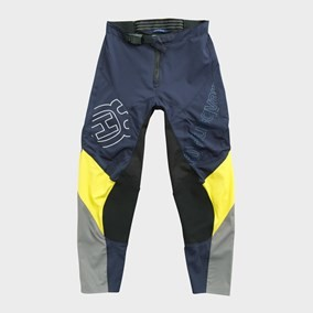 PANTALONI COPII HUSQVARNA RAILED YELLOW/GRAY