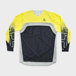 TRICOU HUSQVARNA RAILED PRO YELLOW/GRAY