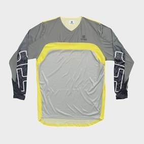TRICOU HUSQVARNA RAILED YELLOW/GRAY