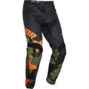Pantaloni Thor copii SECTOR WARSHIP Verde/Portocaliu