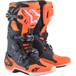 Cizme ALPINESTARS TECH 10 COOL GRAY / ORANGE FLUO