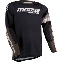 Tricou Moose Racing Sahara Black/Green