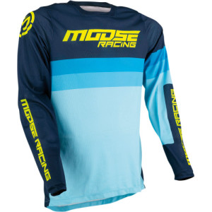 Tricou Moose Racing Sahara Black/Blue/Dark Blue/Navy/Yellow