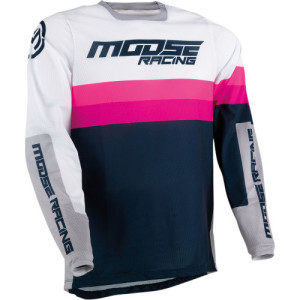 Tricou Moose Racing Sahara Magenta/Navy/Pink/Purple/White