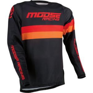 Tricou Moose Racing Sahara Black/Orange/Red