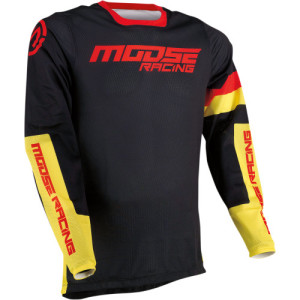 Tricou Moose Racing Sahara Black/Red/Yellow