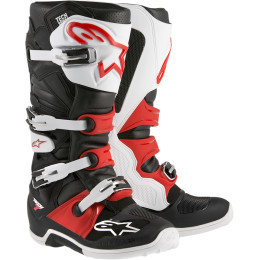 Cizme ALPINESTARS(MX) TECH 7 OFFROAD BOOTS BLACK/WHITE/RED