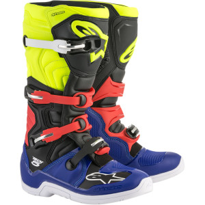 Cizme ALPINESTARS(MX) TECH 5 OFFROAD BOOTS BLUE/BLACK/YELLOW/RED 6