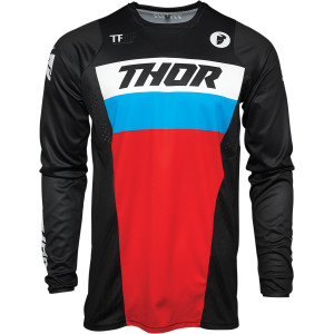 Tricou Thor Pulse Racer Black/Red/Blue