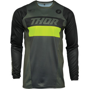 Tricou Thor Pulse Racer Army Green/Acid