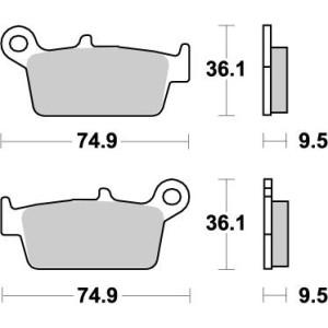 Placute frana spate Honda CR 85/125 XR 250/650 Moto Master